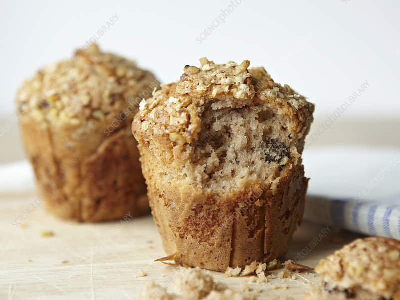 Muffin with bite taken out