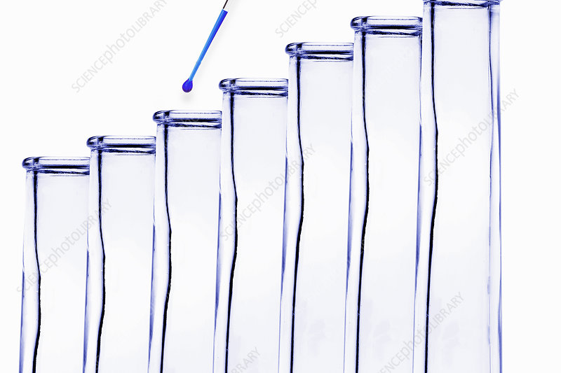 Pipette dripping water into test tube