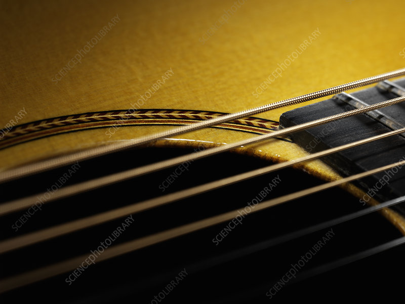 Close up of guitar string