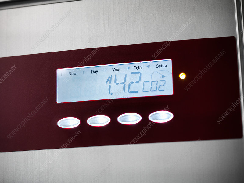Digital screen on solar panel controls