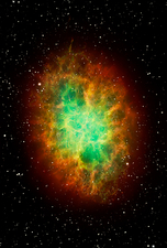 Artwork of the Crab Nebula M1