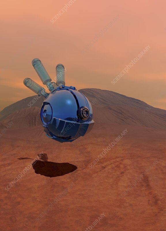 Mars probe, artwork - Stock Image F005/5773 - Science ...