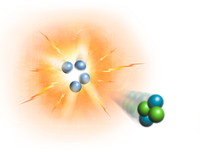 Artwork of nuclear fusion reaction