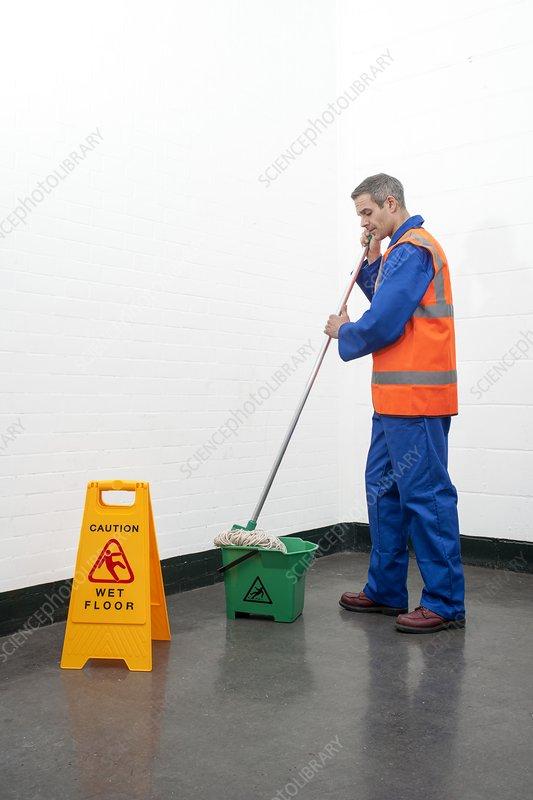 Mopping floor