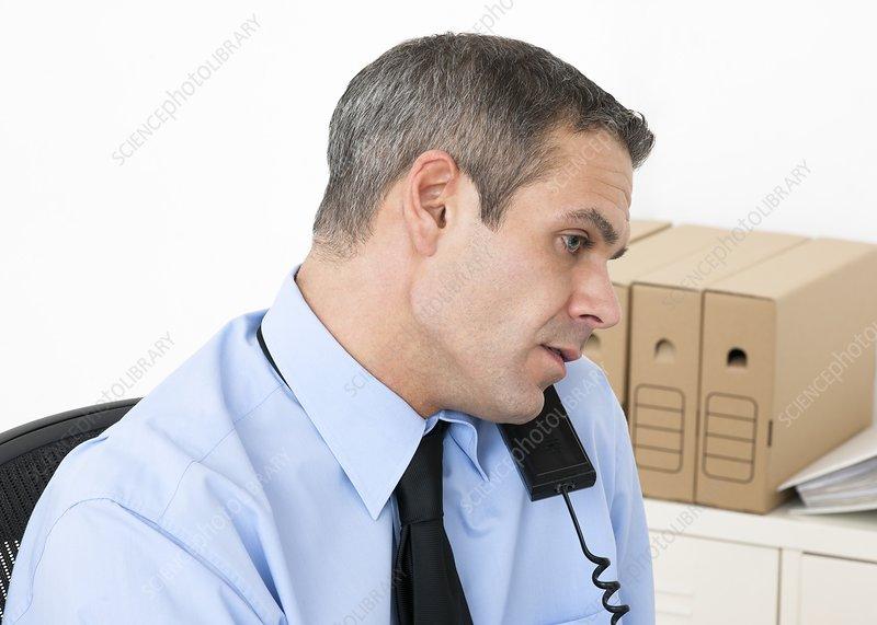 Incorrect telephone posture
