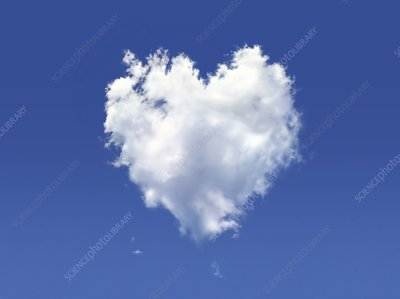 Heart-shaped cloud, artwork