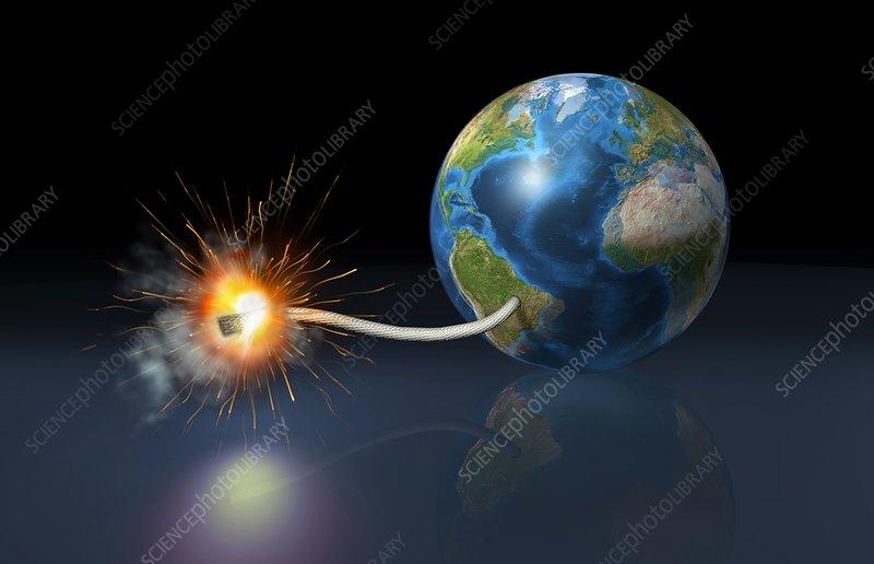 Global time bomb, conceptual artwork