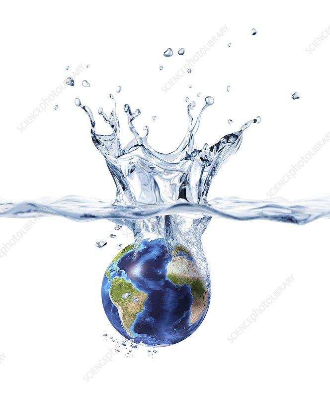 Drowning Earth, conceptual artwork