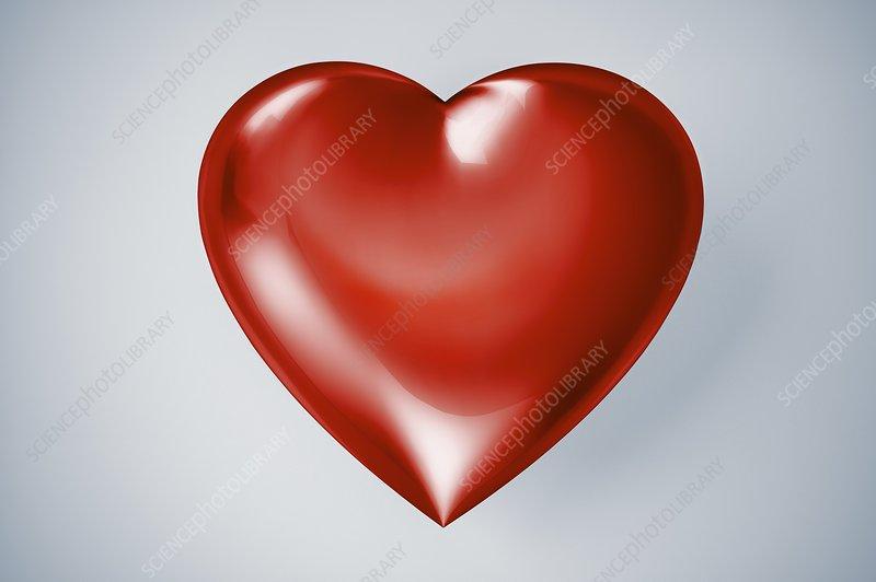 Red heart, artwork