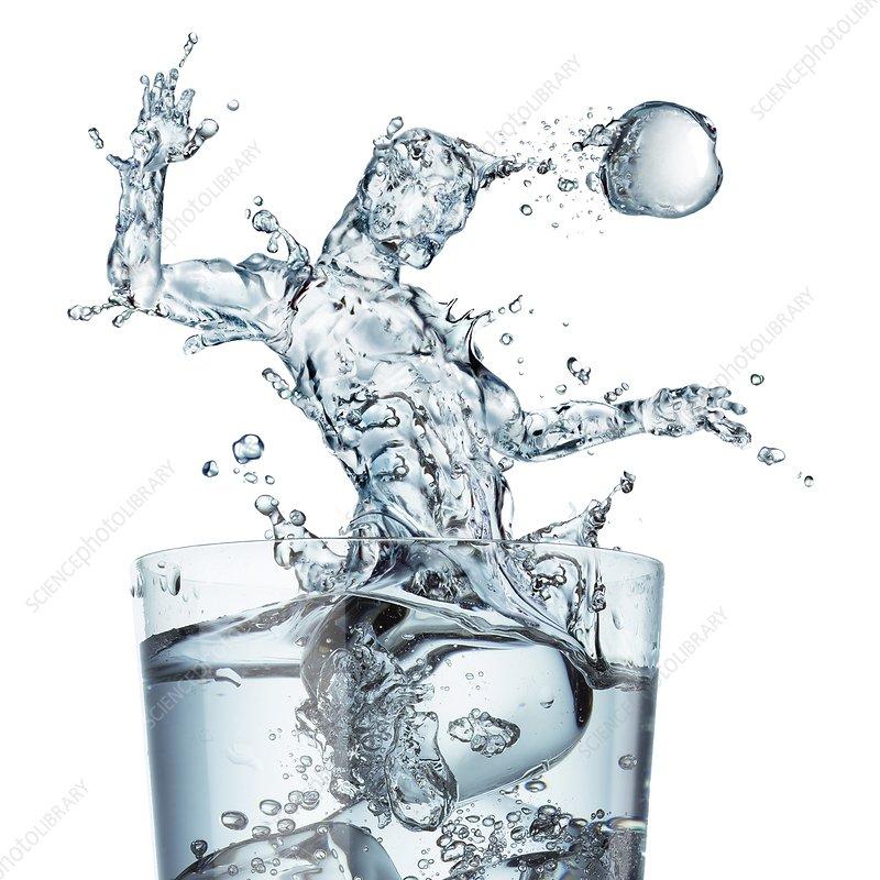Sports hydration, conceptual artwork