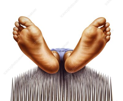 Bed of nails, artwork