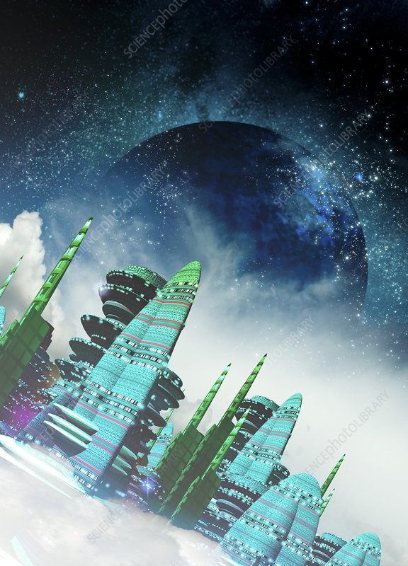 Alien city, artwork