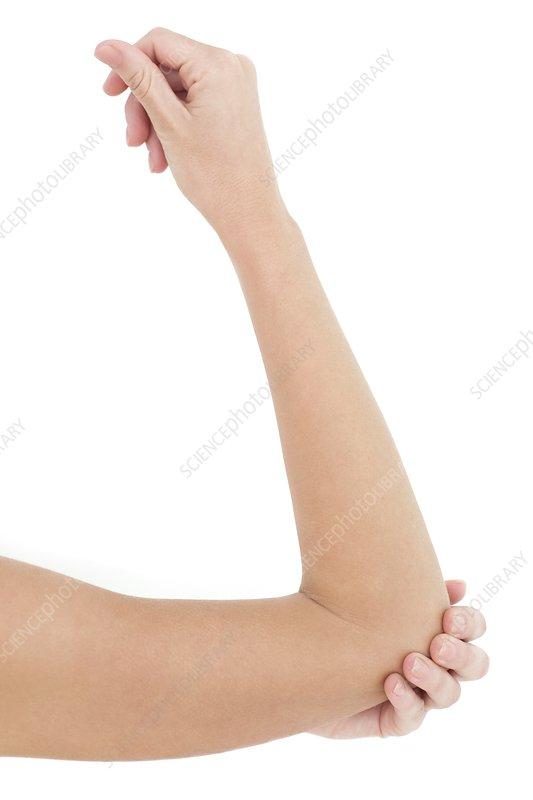 Woman's elbow
