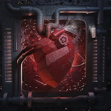 Mechanical heart, conceptual artwork