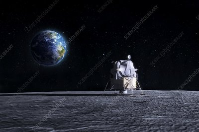 Apollo Moon landing, artwork