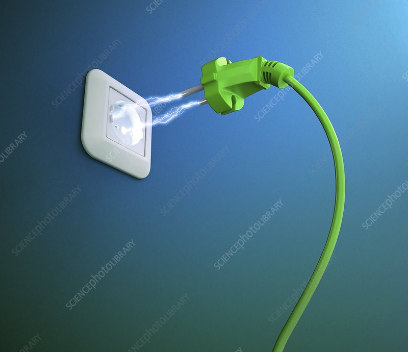 Green energy, conceptual artwork