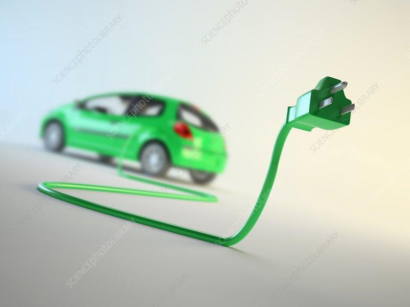 Electric car, artwork