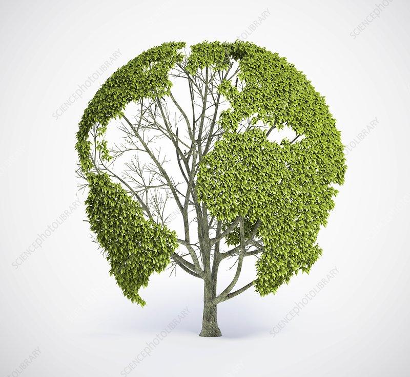 Green planet, conceptual artwork