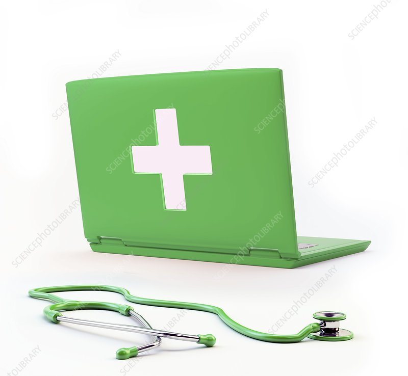 Online diagnosis, conceptual artwork
