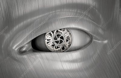 Mechanical eye, conceptual artwork