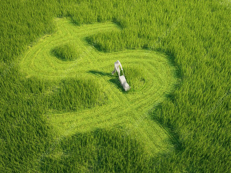 Green economy, conceptual artwork