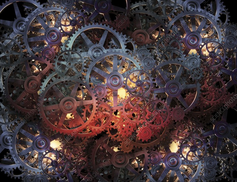 Cogs and gears, artwork