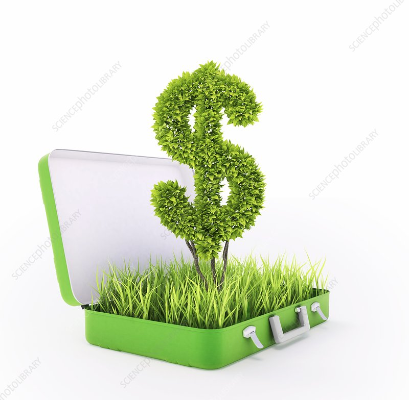 Green investment, conceptual artwork