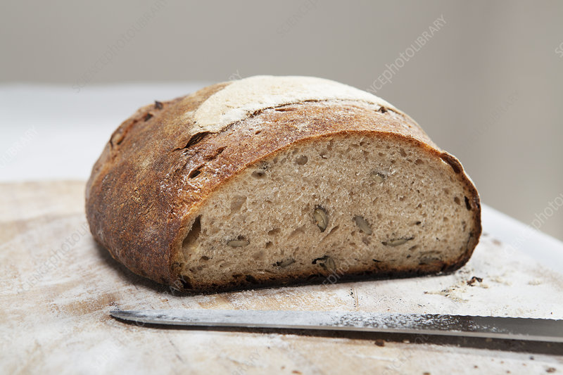 Close up of loaf of bread