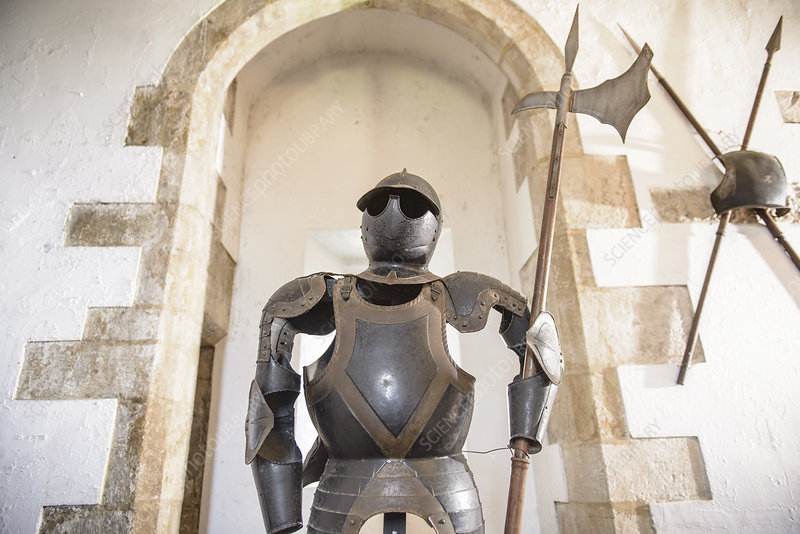 Suit of armour wearing sunglasses