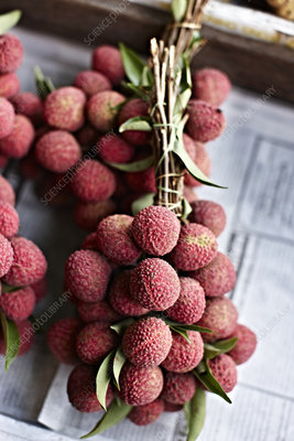 Lychee fruit for sale at market