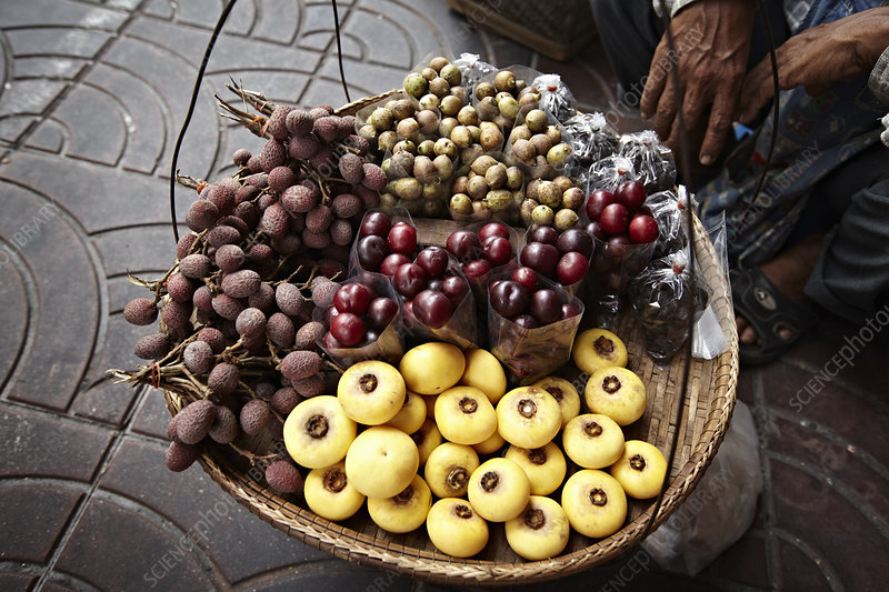 Basket of fruit for sale at market