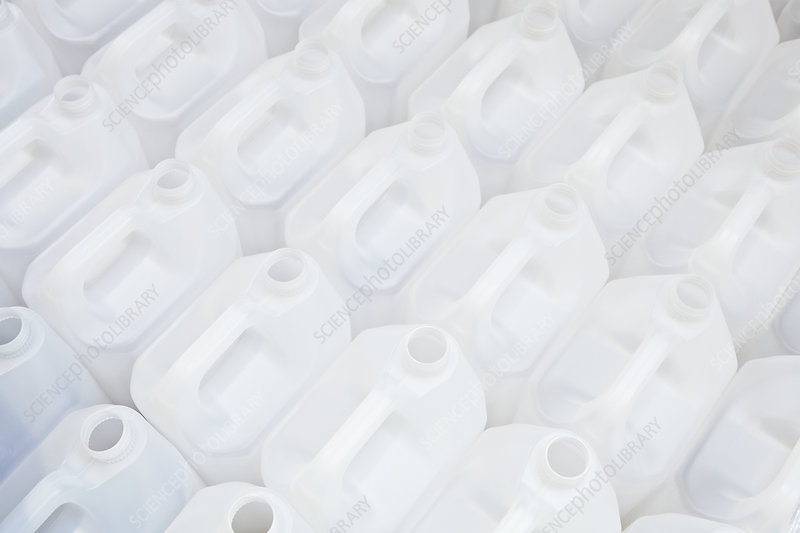 Close up of empty white plastic cartons