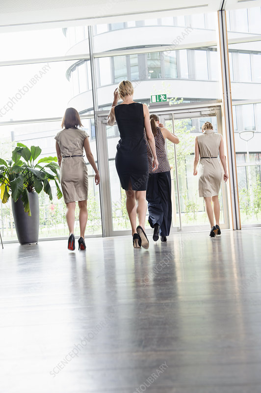 Businesswomen walking in office