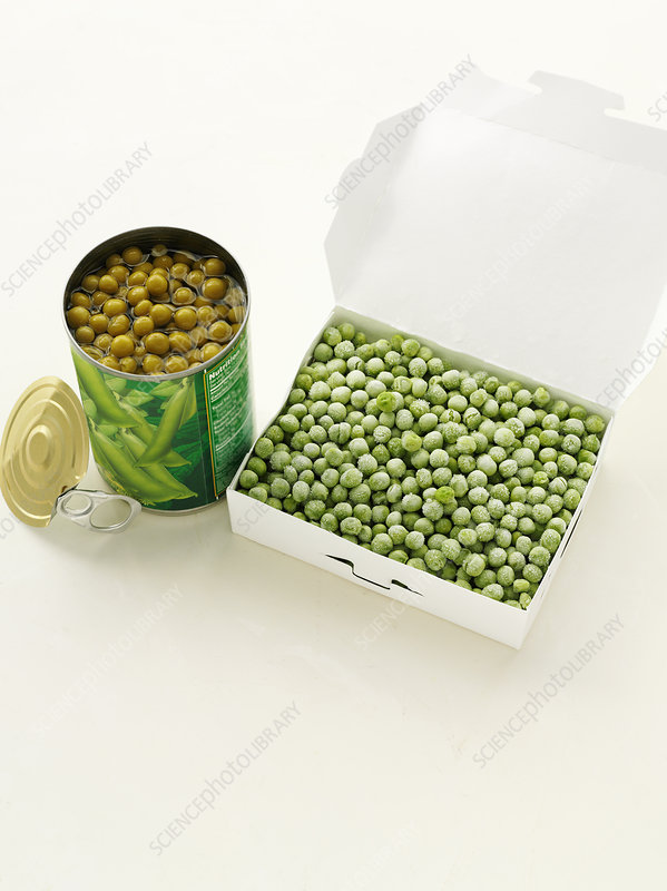 Canned peas with frozen peas