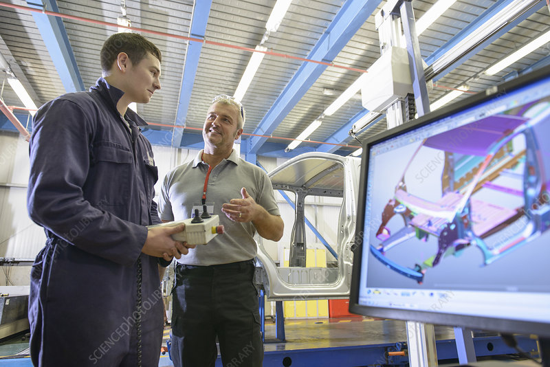 Apprentice learning in car factory