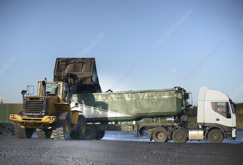 Coal loaded onto truck at surface mine