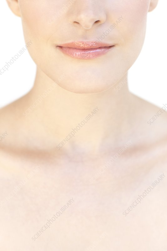 Woman's upper chest