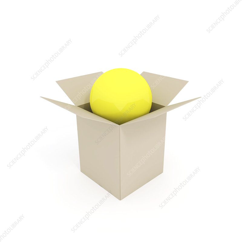 Ball in a box, artwork