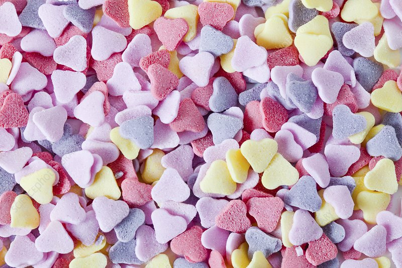 Heart-shaped sweets