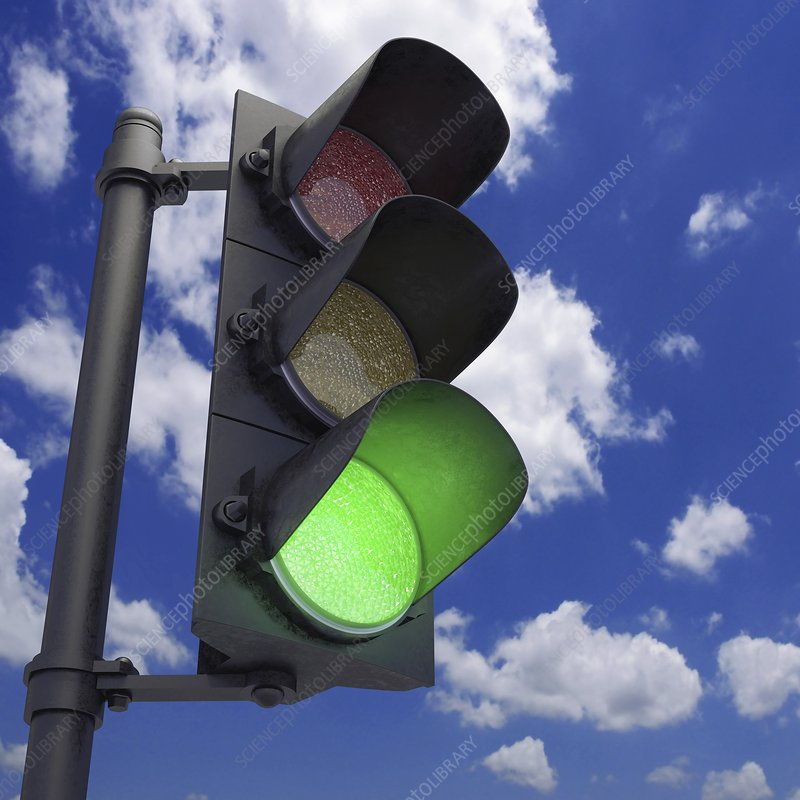 Green traffic light, artwork