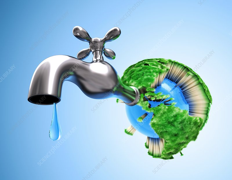 Global water shortage, conceptual artwork