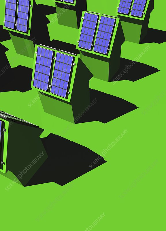 Green housing, conceptual artwork