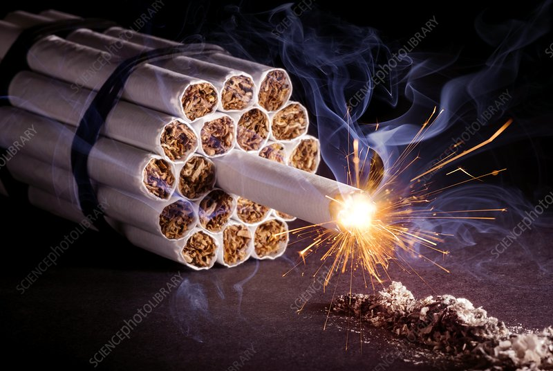 Dangers of smoking, conceptual image
