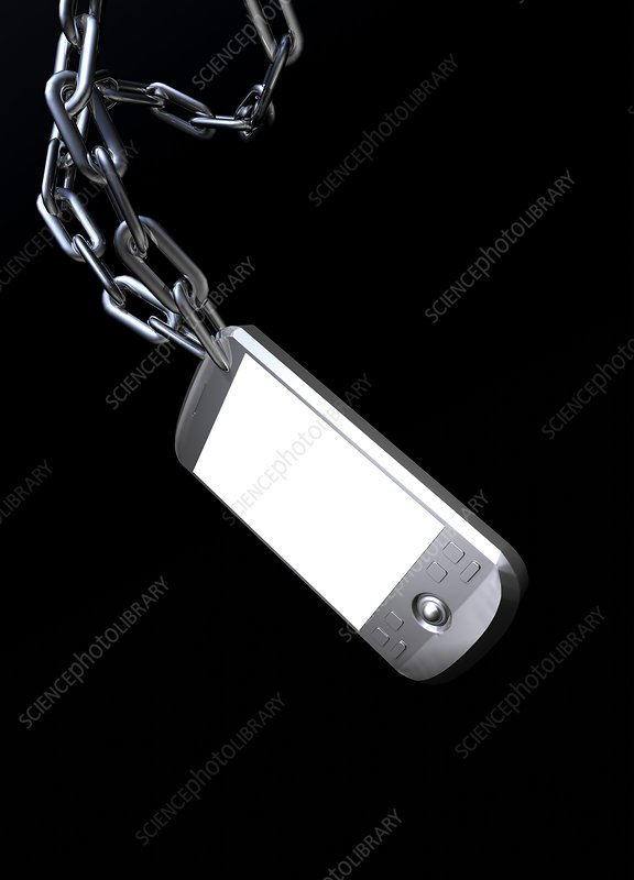 Mobile phone security, conceptual artwork