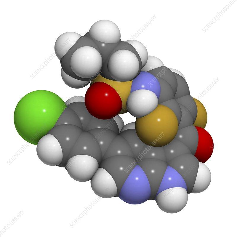 caption vemurafenib melanoma drug molecular model vemurafenib isVemurafenib Structure