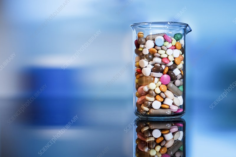Pharmaceutical research, conceptual image