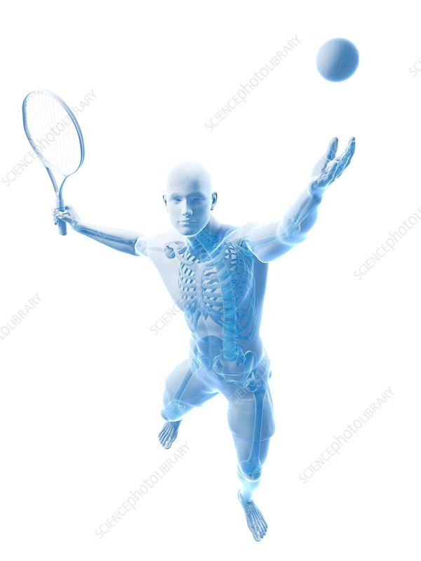 Tennis player, artwork