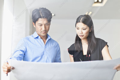 Business people reading blueprints stock image f007 8801 for Reading blueprints 101