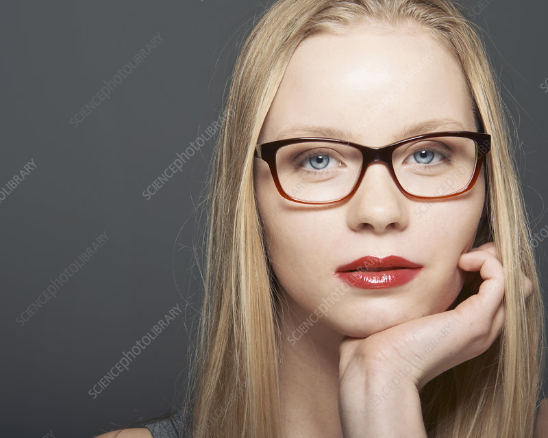 Close up of woman's serious face