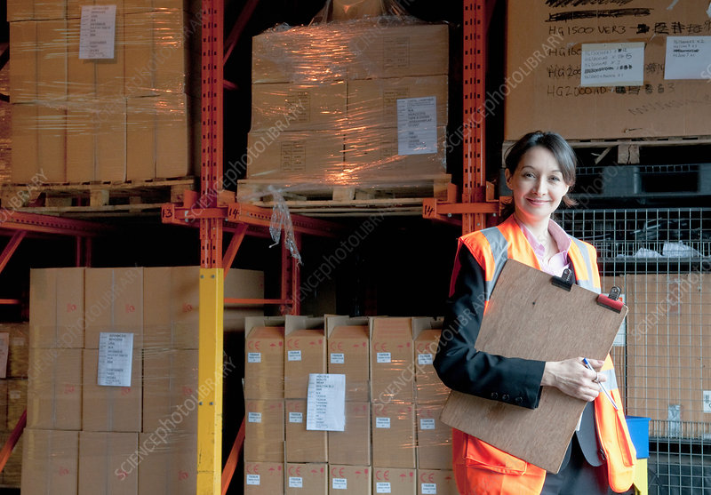 Female supervisor in warehouse